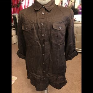 Chico's long-sleeved shirt type dress size 3